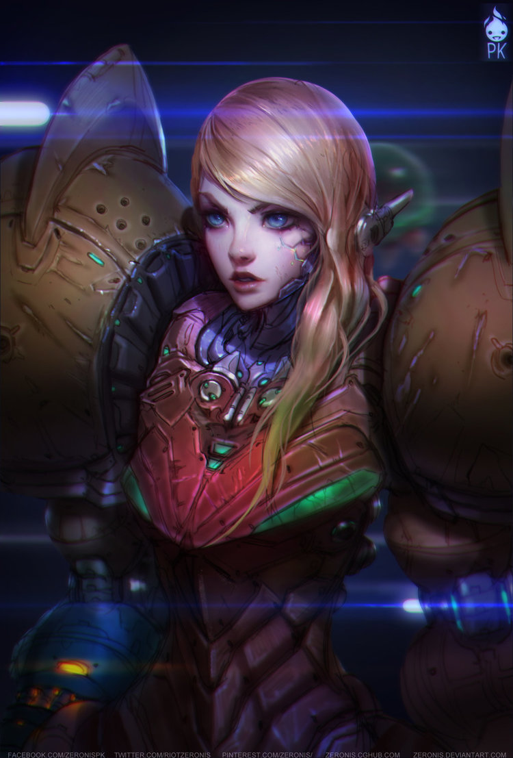 Samus Portrait Kkg Artbook By Zeronis D78ncsc