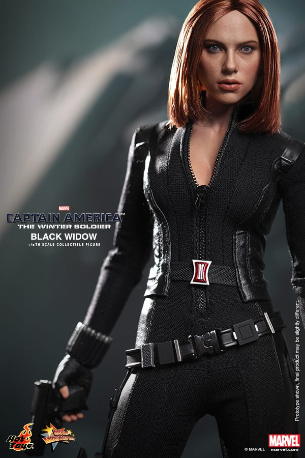 hot toys u0026 39  captain america 2 black widow collectible figure