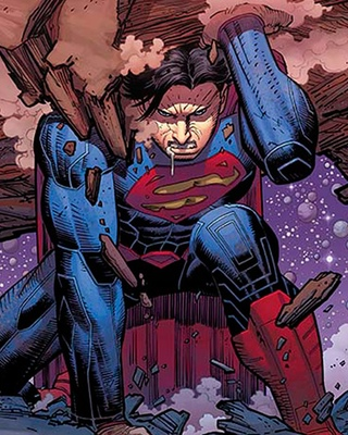 john romita jrs superman cover art for geoff johns