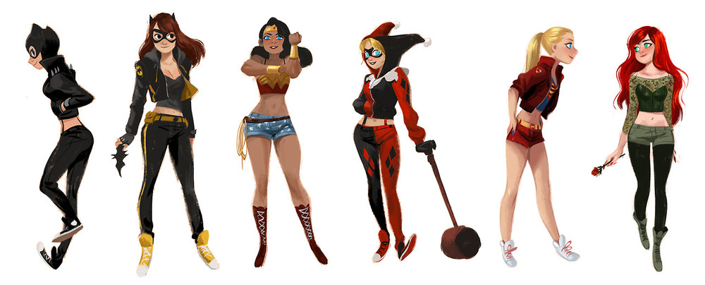 super-heroines-wearing-streetwear-fashion-costumes