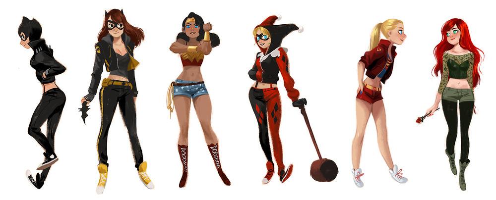 super-heroines-wearing-streetwear-fashion-costumes