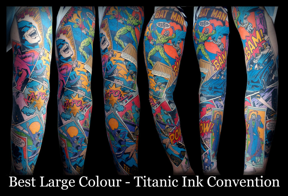 impressively-cool-batman-comic-tattoo-sleeve