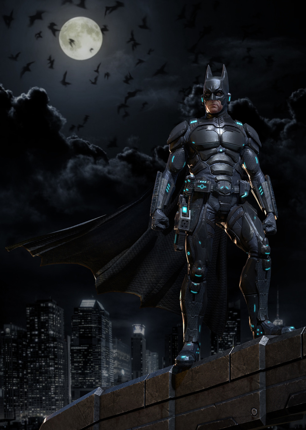 Sci fi style batman character design geektyrant for Sci fi decor