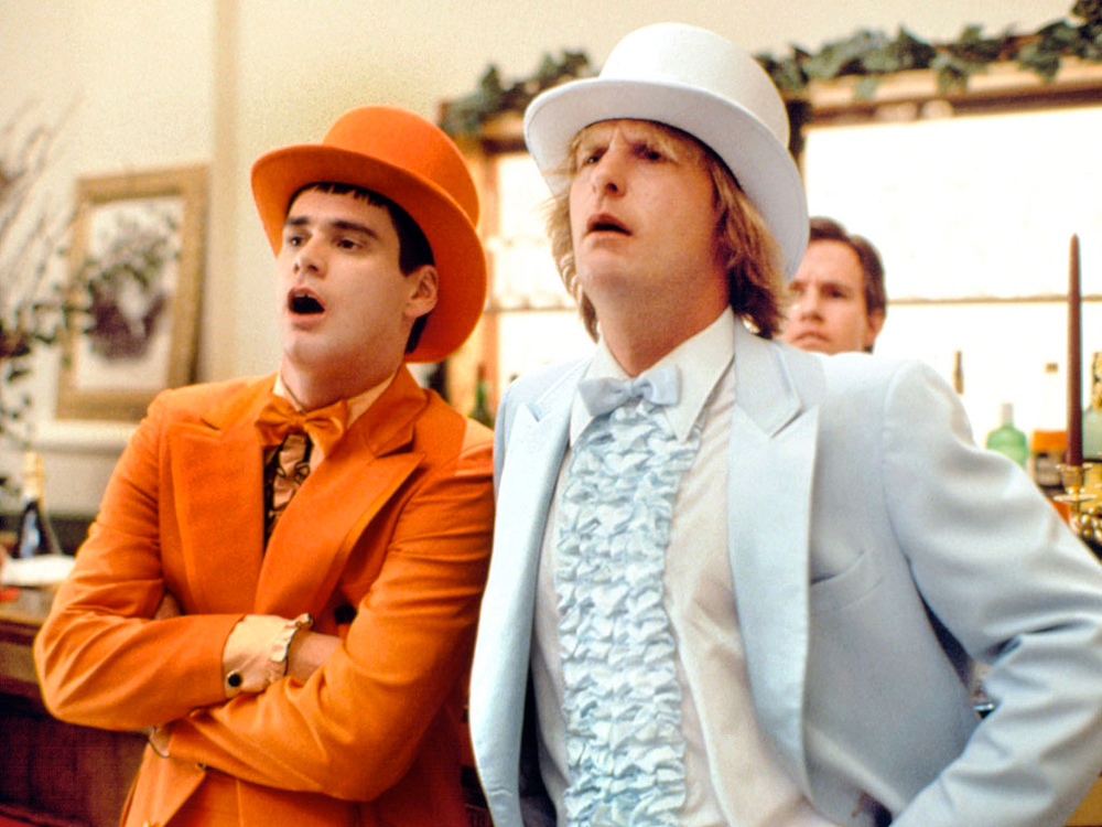 First posters for dumb and dumber to tease familiar for Jeff daniels bathroom scene