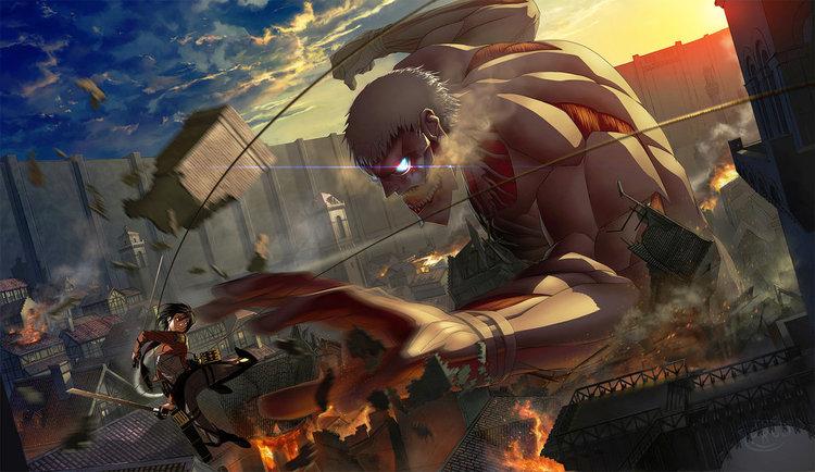 Attack on Titan in Action Piešimo Konkursas