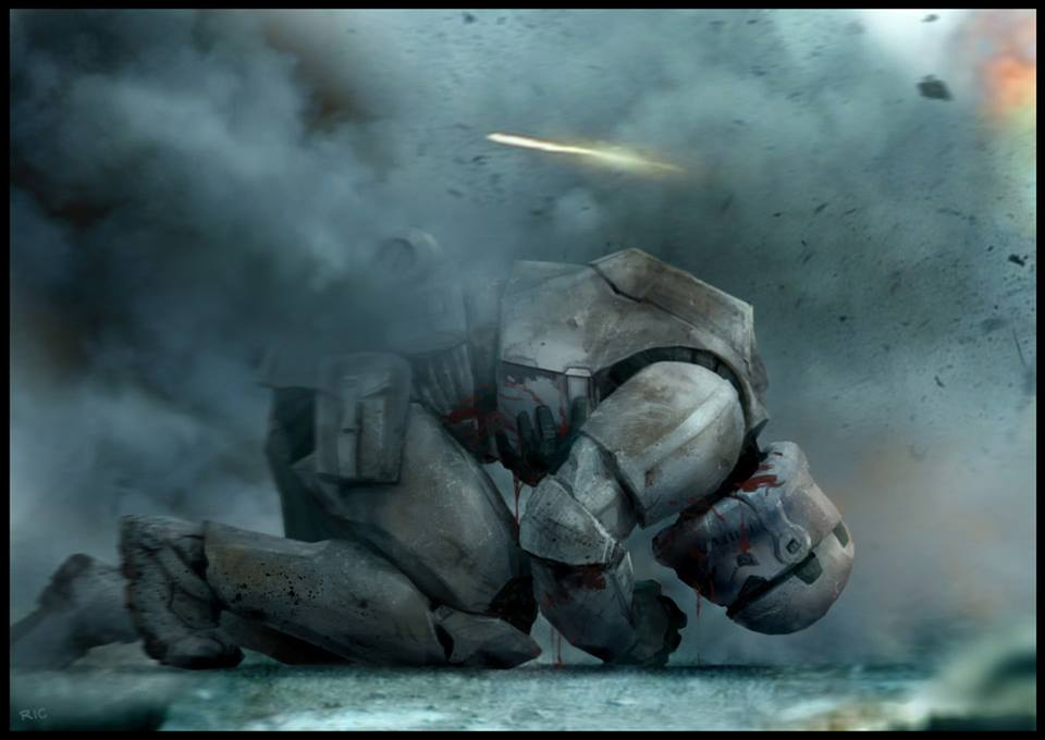 Action Packed Stormtrooper STAR WARS Art - Fire Assault ...