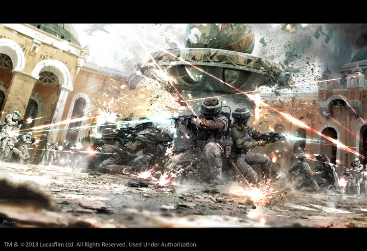 Stormtrooper Concept Art of Cancelled Star Wars Video Game