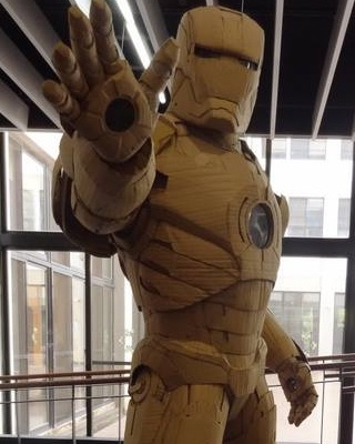 Amazing Full Size Cardboard Iron Man Suit Geektyrant