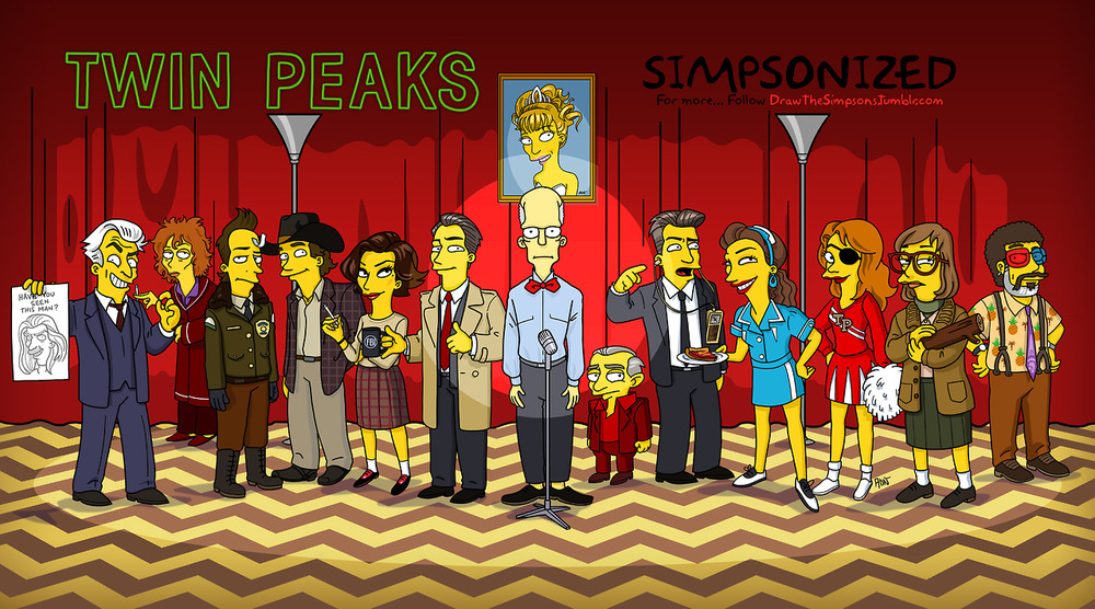 simpsonized-twin-peaks-characters