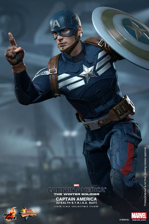 GeekTyrant		                Hot Toys CAPTAIN AMERICA 2 Stealth Suit and Steve Rogers Figure