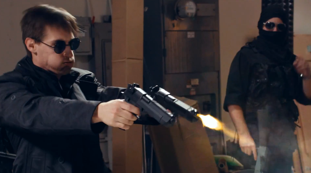hilarious-equilibrium-inspired-gun-battle-short-no-man-left-behind