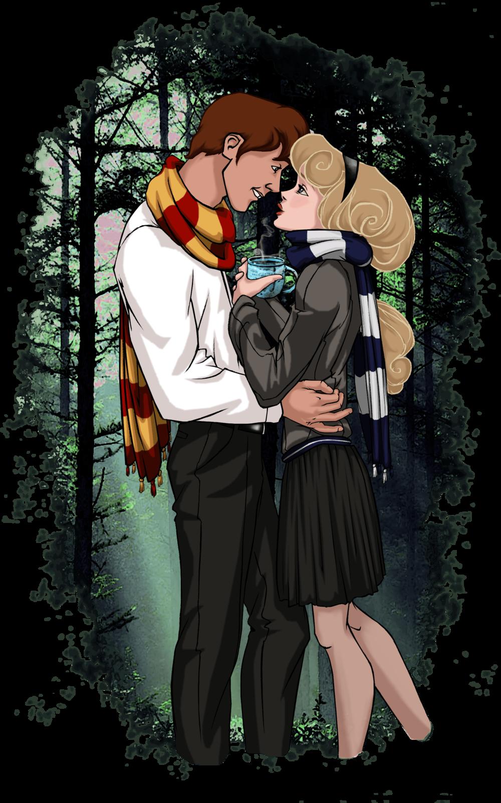 Princess Aurora and Prince Phillip