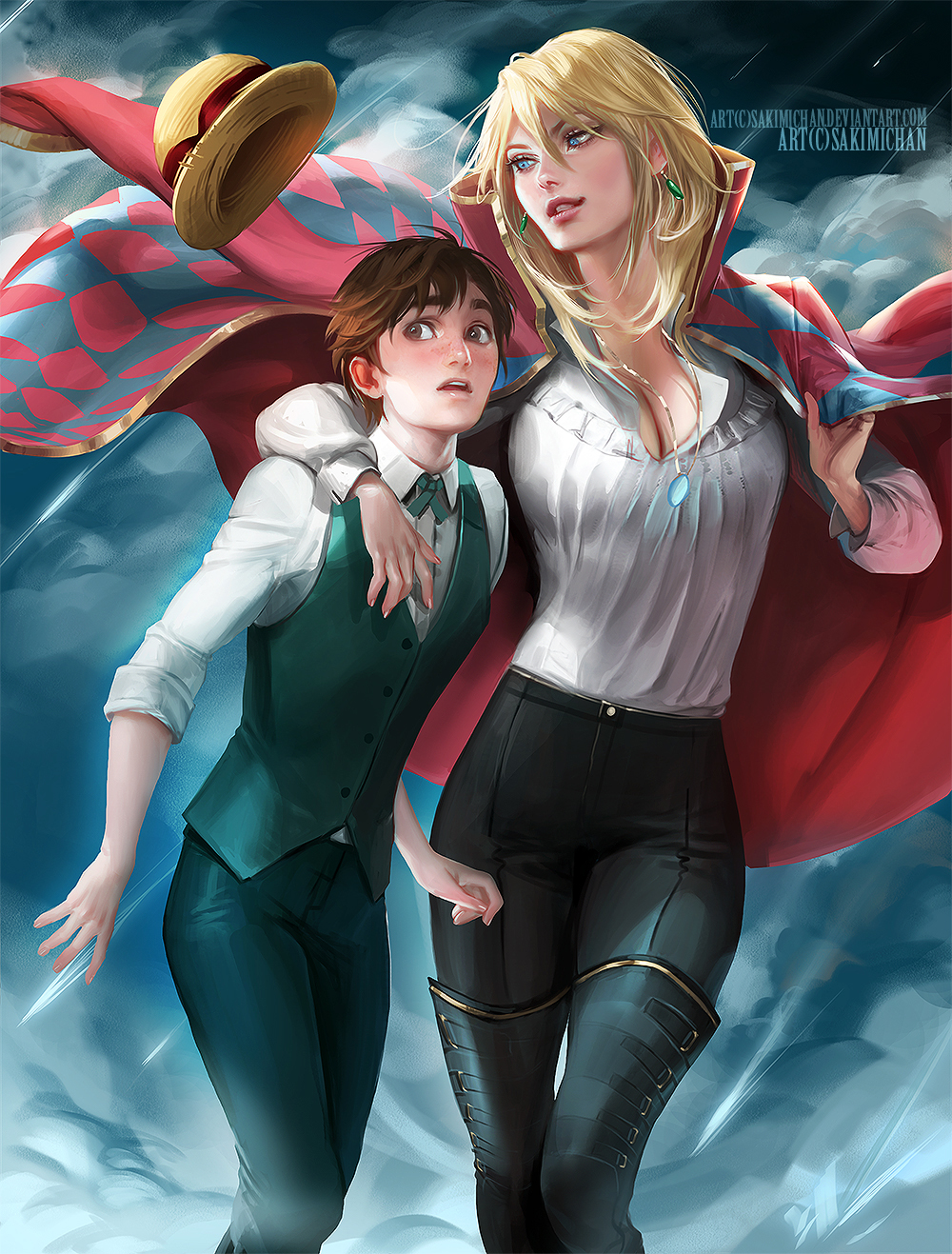 Genderbent Howl's Moving Castle