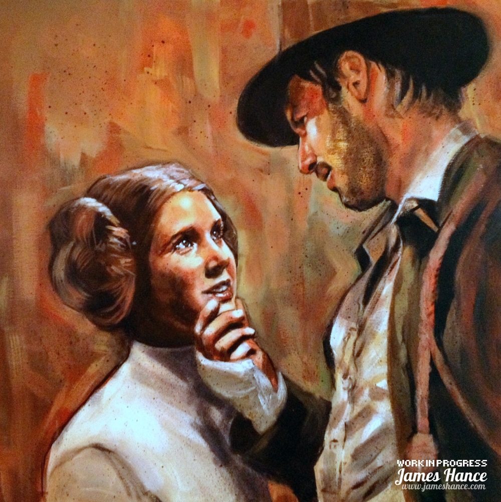 indiana-jones-meets-princess-liea-fan-art-by-james-hance