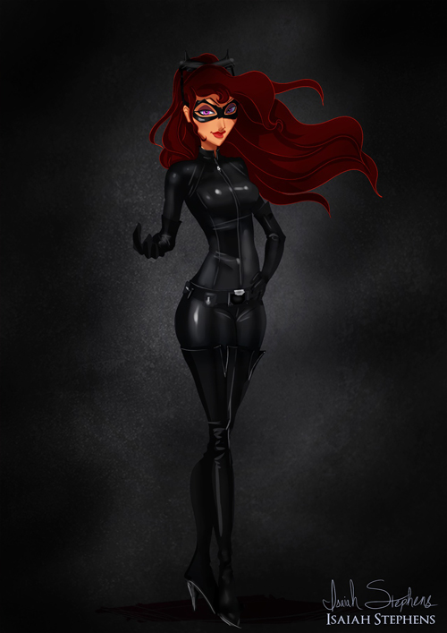 Megara as Catwoman