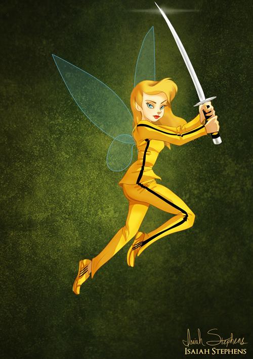 Tinkerbell as Beatrix Kiddo