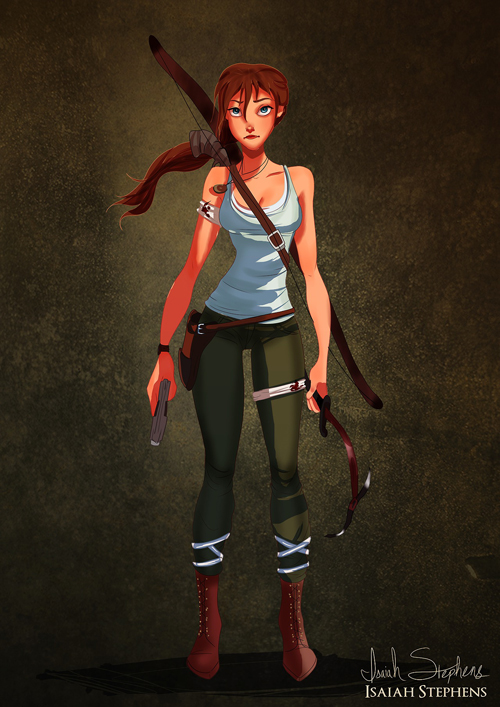 Jane Porter as Lara Croft