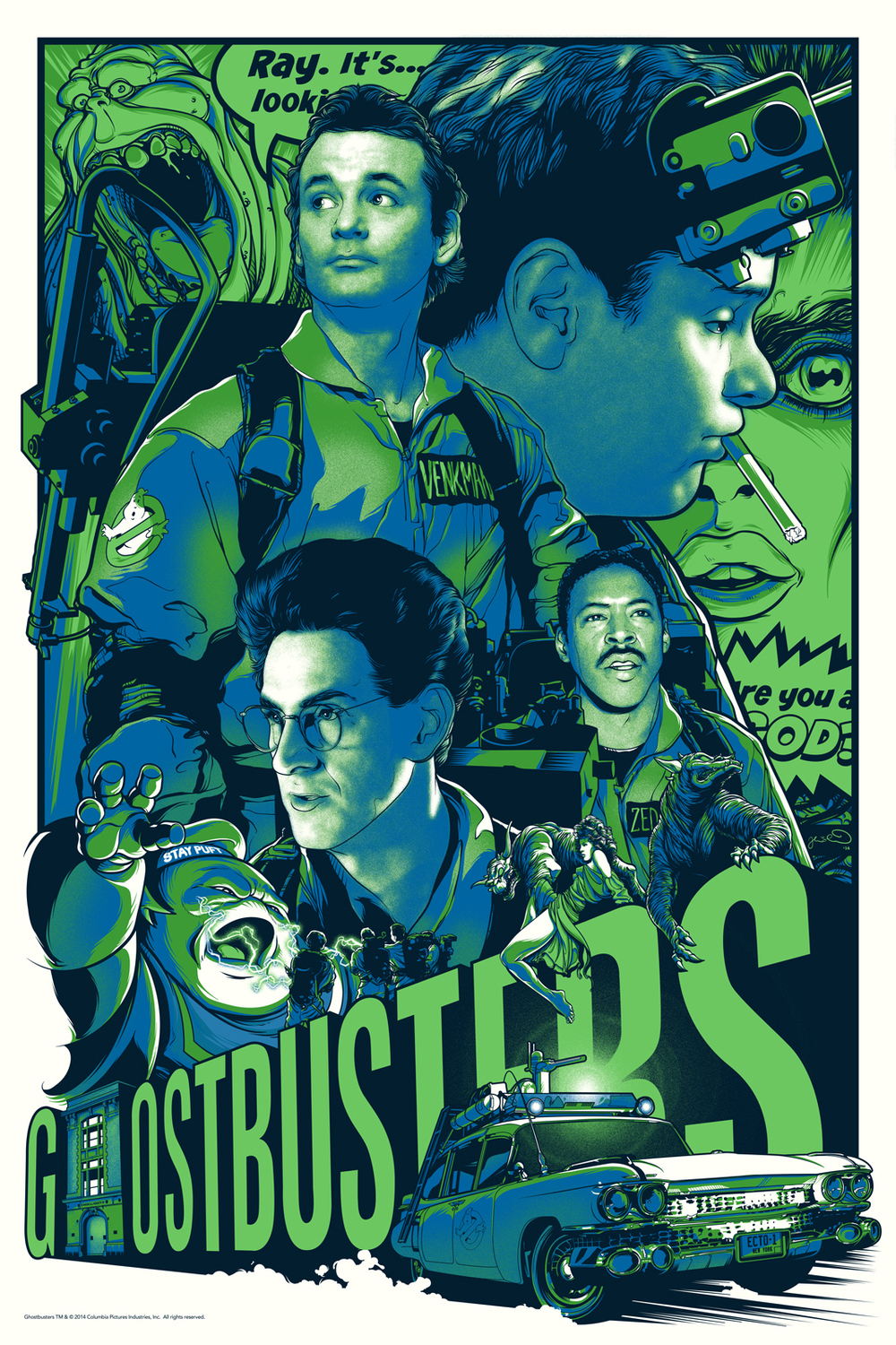 9 new ghostbusters posters from the 30th anniversary art