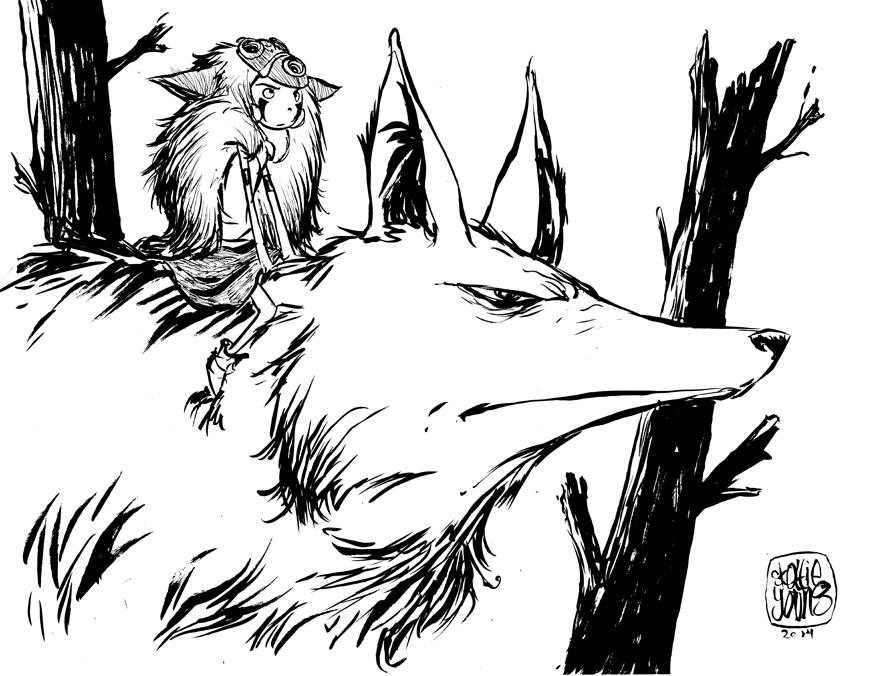 great-princess-mononoke-sketch-by-skottie-young