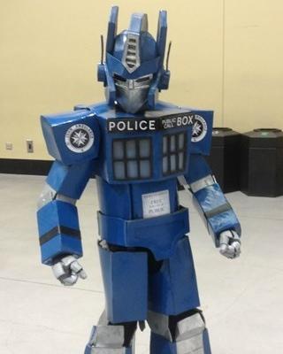 optimus prime and tardis cosplay mashup � geektyrant