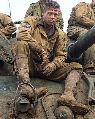2 Photos of Brad Pitt in the WWII Movie FURY — GeekTyrant Shia Labeouf Interview
