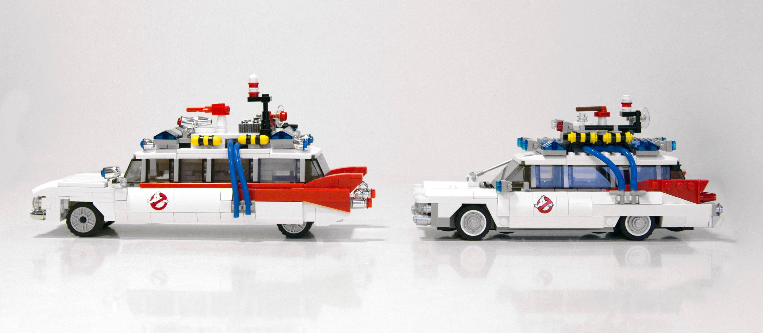The Official Ghostbusters Ecto 1 Lego Play Set Revealed Geektyrant 75828 Ampamp 2 Comparison 8