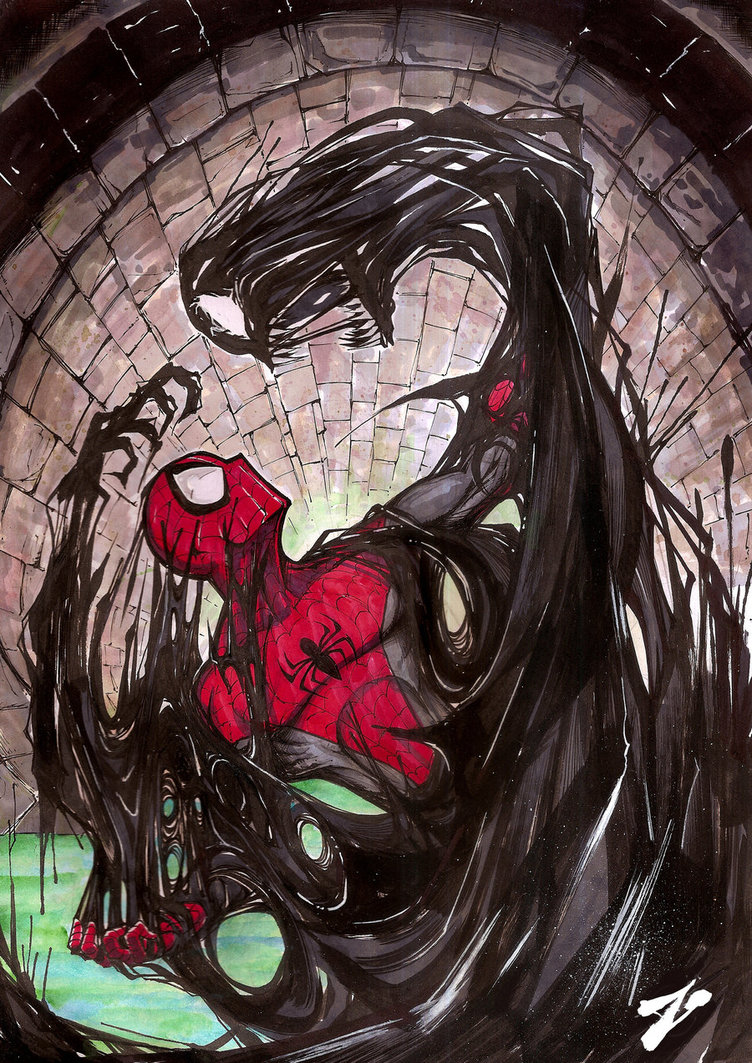 Venom spiderman art - photo#10