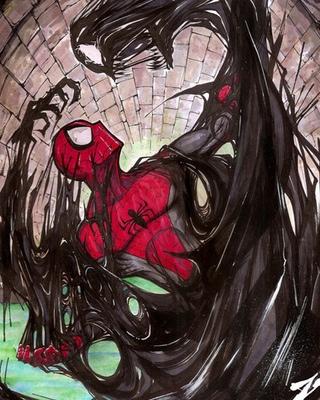 venom vs anti venom in fan art by isuardi therianto geektyrant