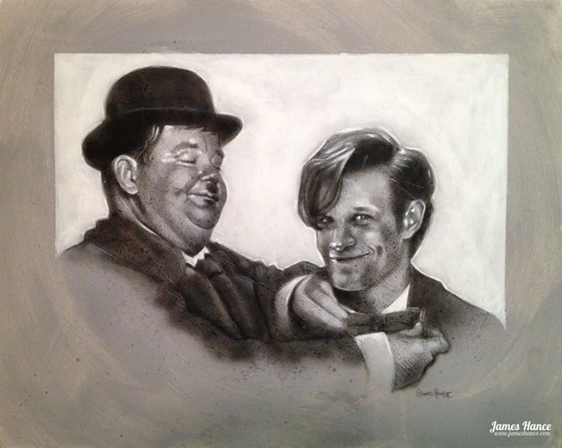 doctor-who-and-laurel-hardy-mashup-art-by-james-hance