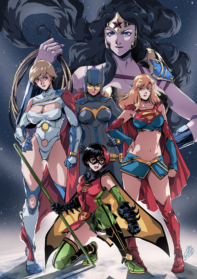 anime-style-all-girl-justice-league-team