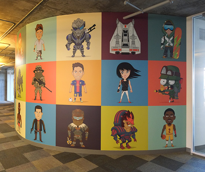 Ea games character wall mural by christopher lee geektyrant for Character mural