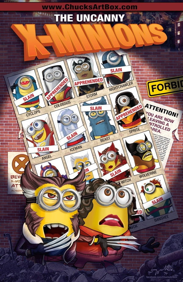 X-MINIONS: DAYS OF FUTURE PAST Mashup Fan Art Series ... Despicable Me 2 Characters