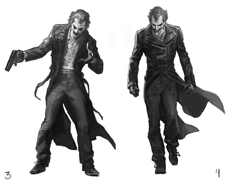 Joker concept art for batman arkham origins geektyrant - Batman contre joker ...