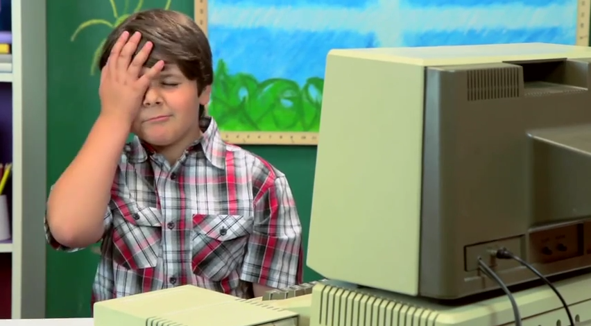 kids-hilariously-react-to-an-old-apple-ii-computer