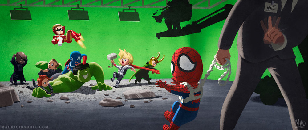 Poor Spider Man Doesnt Get To Play With The Avengers  Fan Art