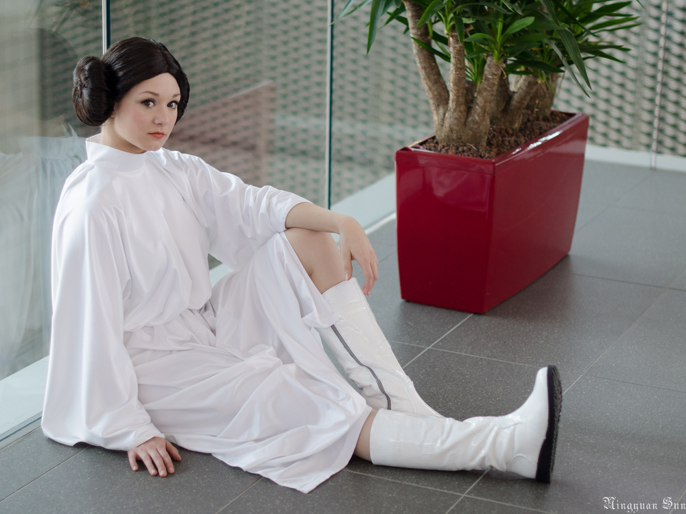 Aigue-Marine  is Princess Leia — Photo by  Ningyuan Sun  — Wig by  TheLupin