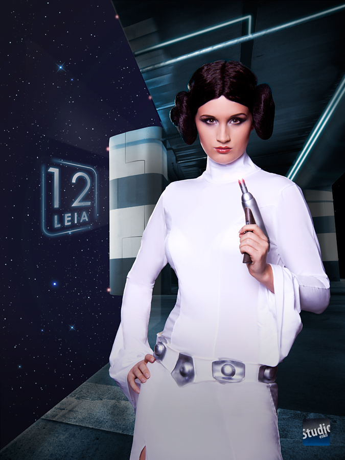 Catharina is Princess Leia — Photo by   Snusmumrik  — Makeup by  Sølvi Strifeldt
