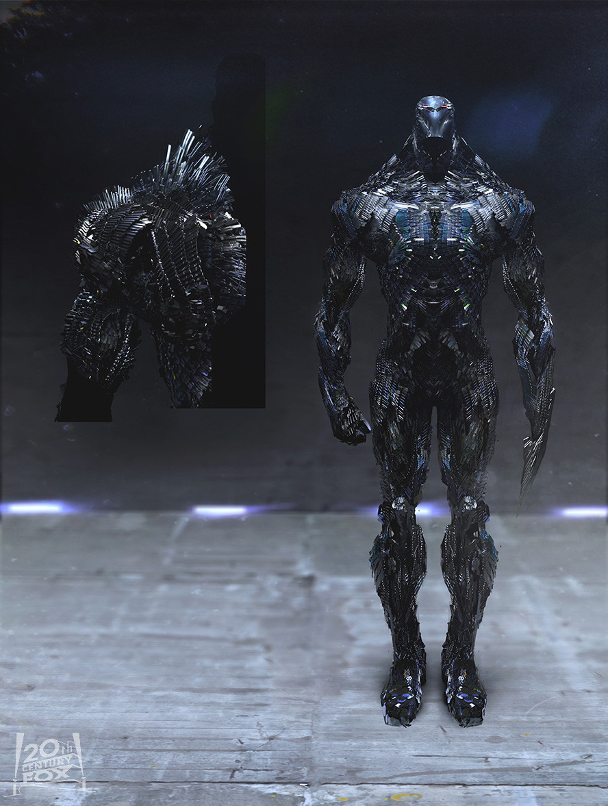 cool sentinel concept art from x men days of future past geektyrant. Black Bedroom Furniture Sets. Home Design Ideas