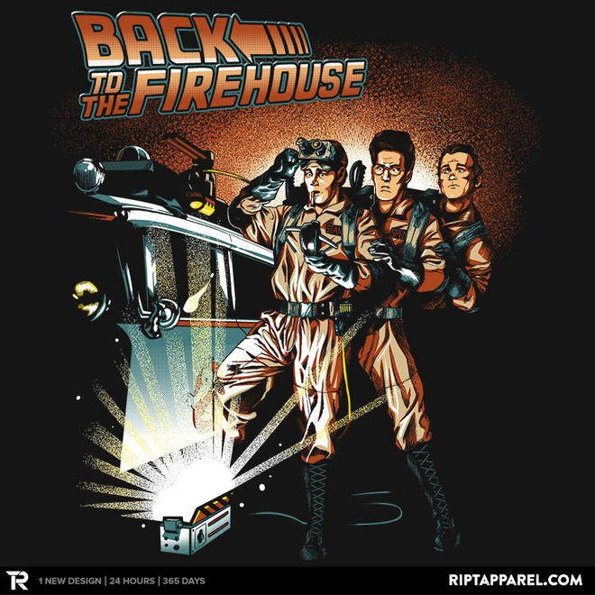 back-to-the-future-and-ghostbusters-mashup-art