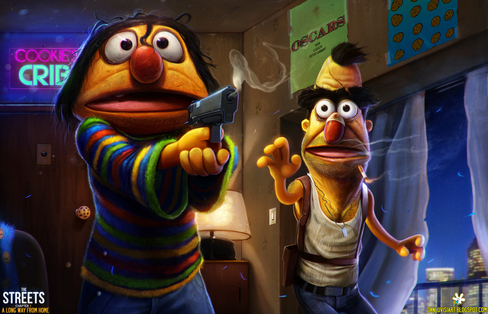 "Bert and Ernie Thug Art - ""The - 649.6KB"
