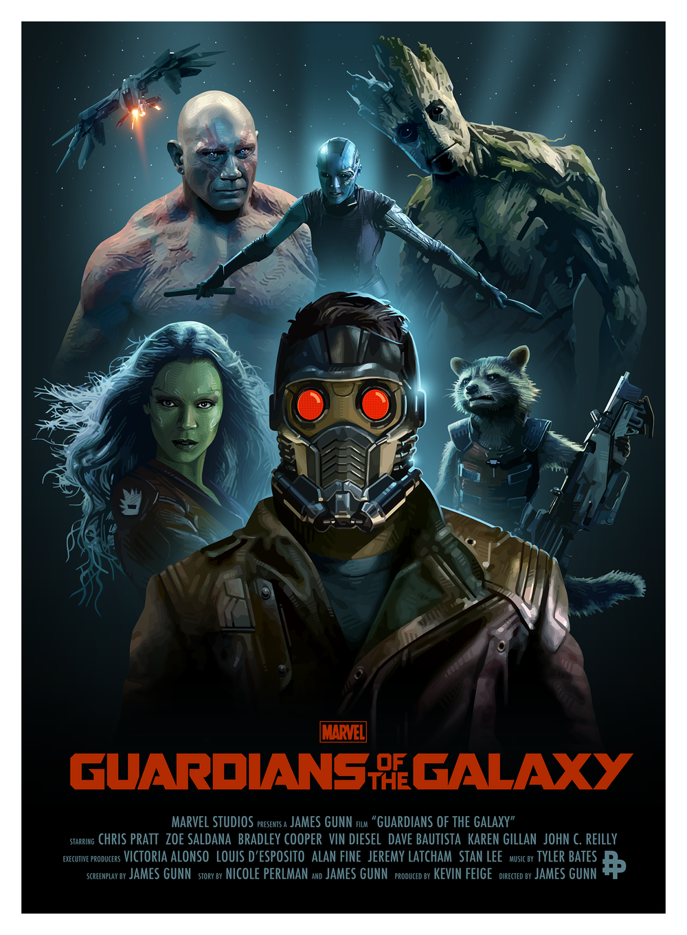 GeekTyrant                GUARDIANS OF THE GALAXY Poster Art Series from the Poster Posse