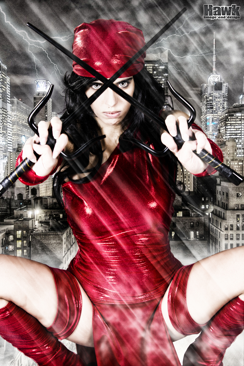 Larxenne is Elektra | Photo by: Hawk Image and Design