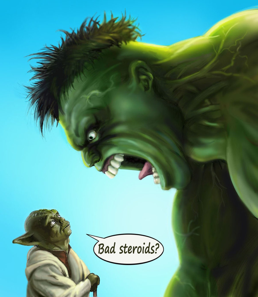"Yoda Hulk — ""Bad Steroids"" by Goshadude89"