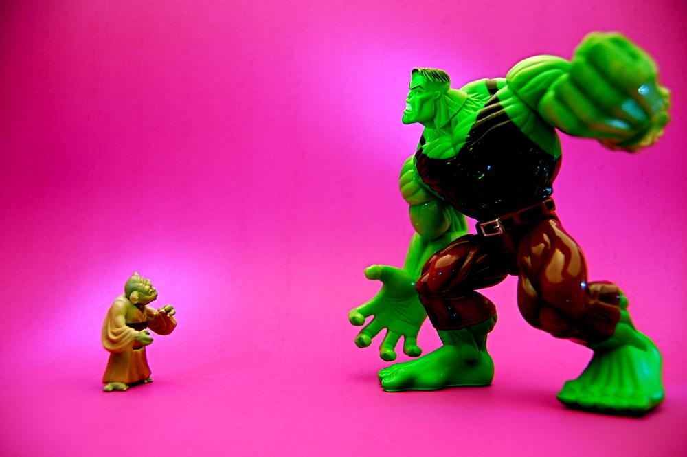 """Yoda Hulk — """"Yoda vs. Hulk"""" by JD Hancock"""