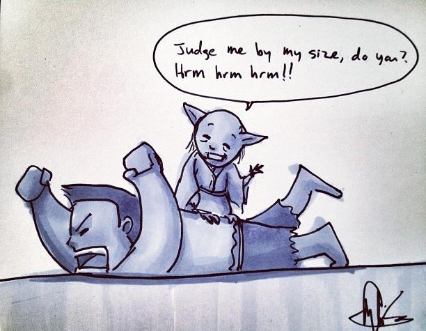 """Yoda Hulk — """"Sore Loser"""" by  Angelasongart"""