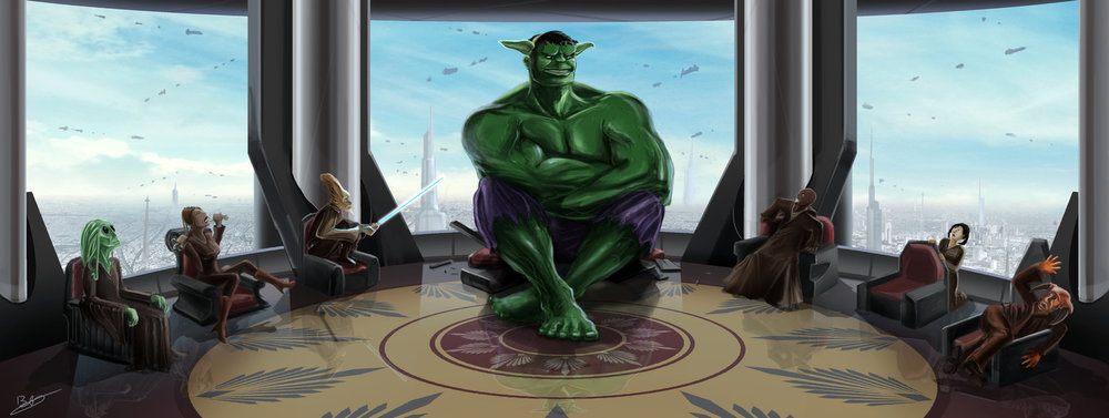 "Yoda Hulk — ""Hulk Dressed Up As Yoda"" by xben"