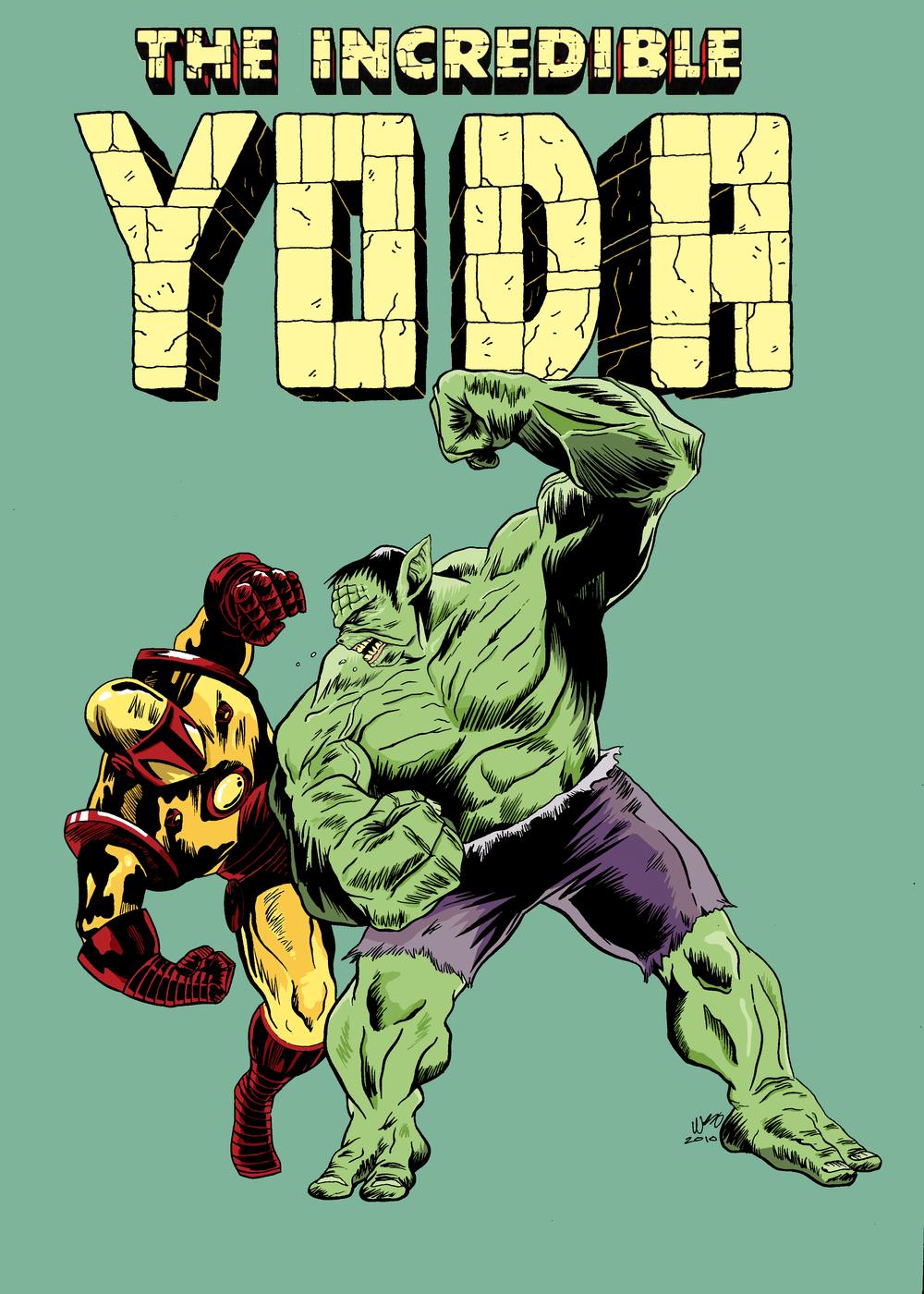"Yoda Hulk — ""Incredible Yoda VS Iron Fett"" by Wescoast"