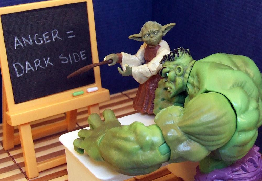 "Yoda Hulk — ""Anger = Dark Side"" by  Imgur"