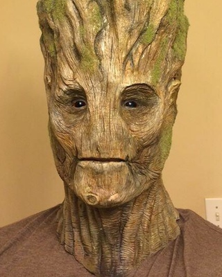 Cool Practical Makeup For Groot From Guardians Of The