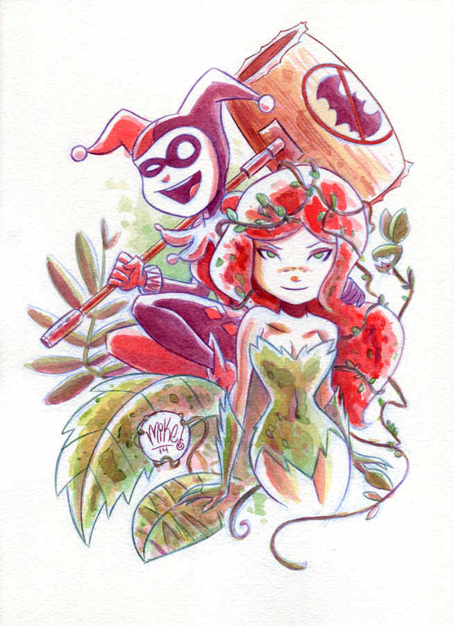 adorable-harley-quinn-and-poison-ivy-fan-art